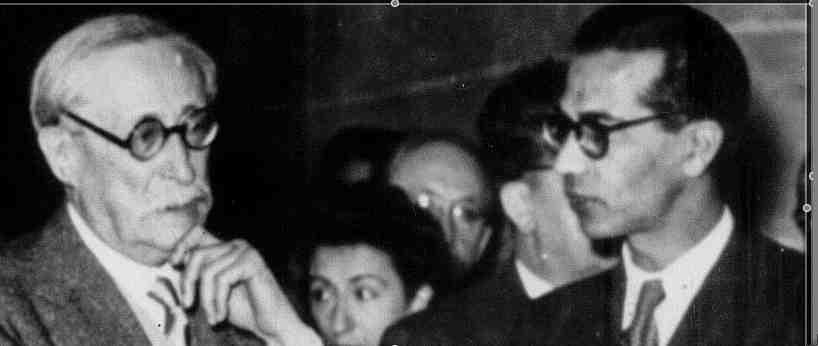 Léon Blum et Robert Verdier, 1945.