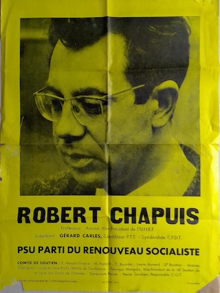103 APO 1 à 132 : fonds Robert Chapuis, du PSU au PS