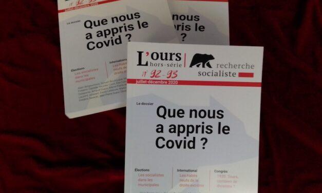 «Que nous a appris le Covid ? » : Recherche socialiste 92-93 (décembre 2020) vient de sortir